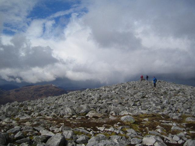 Stony summit of Carn nan Gobhar