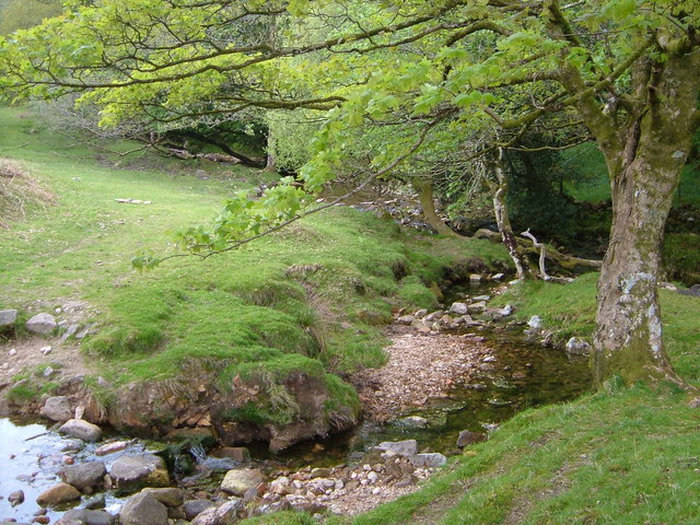 Junction of Scad Brook with Glaze Brook