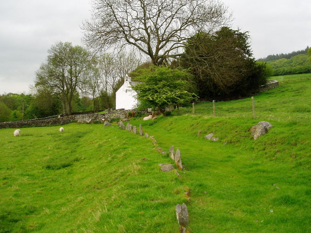 Path leading to Llangar Church