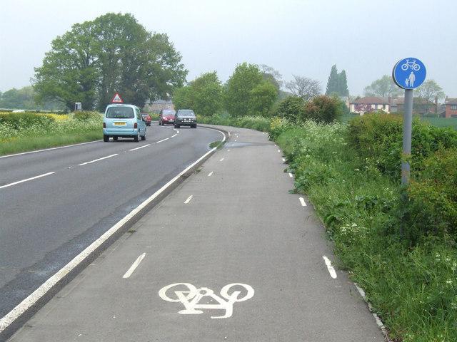 Cycle path.