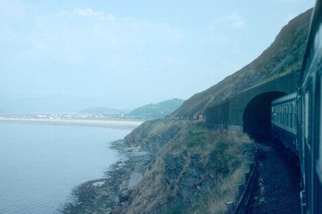 Avalanche tunnel on the allt near Friog, 1984