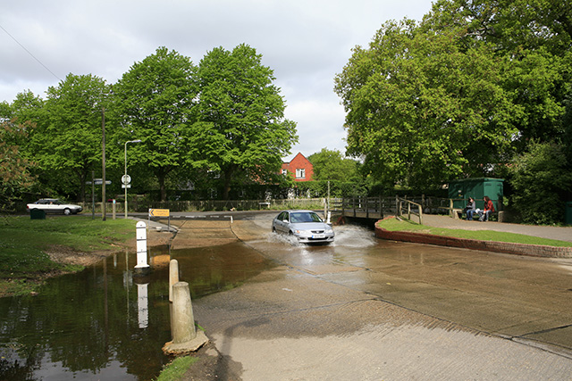 Ford at junction of Brookley Rd and Rhinefield Rd, Brockenhurst