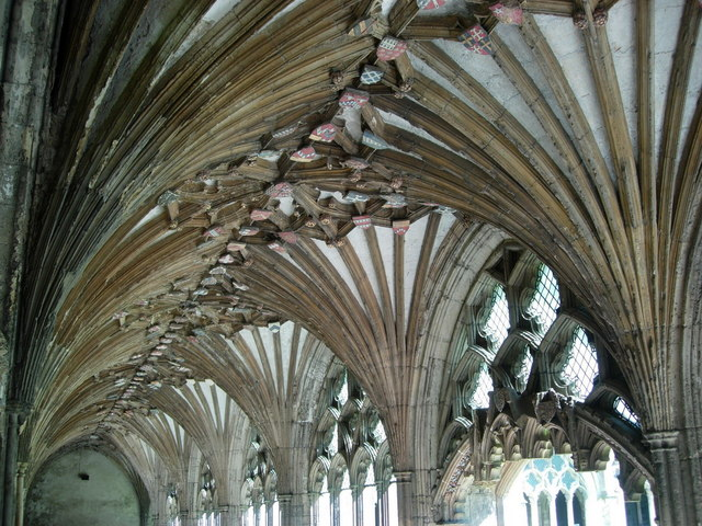 Canterbury Cathedral: the Cloisters.