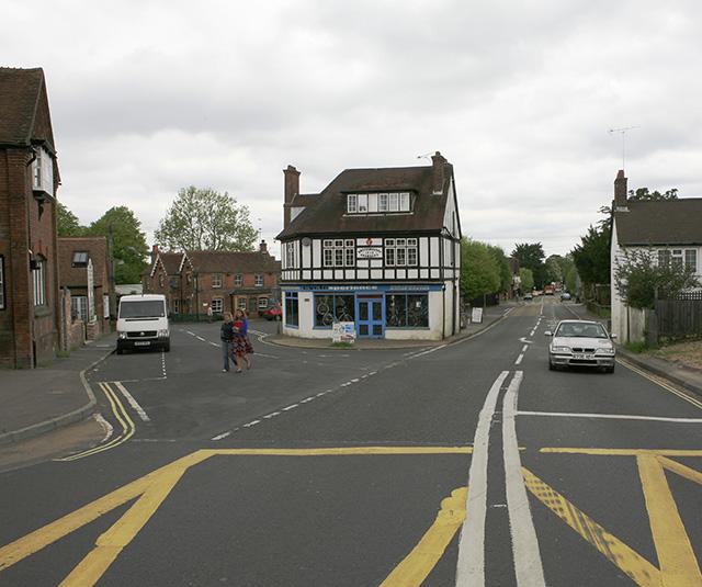 Brookley Road A337 junction, Brockenhurst