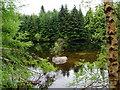 SJ0640 : Reservoir in Cynwyd Forest by Eirian Evans