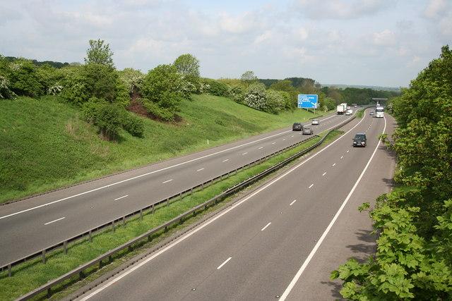 A1M through Burr Hill