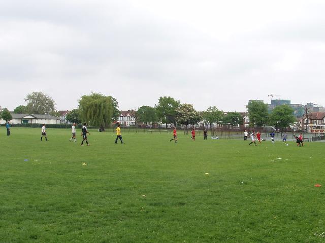 Football on North Acton recreation ground