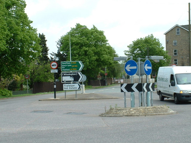 Entering Downham Market from the west