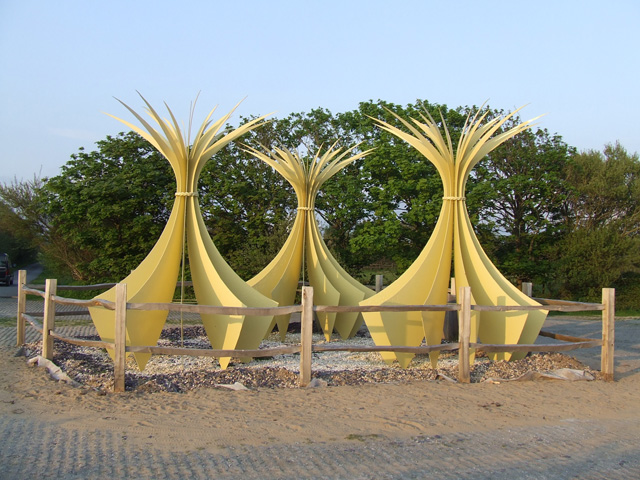 Sculpture depicting Marram Grass