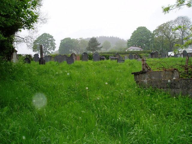 Llandderfel graveyard