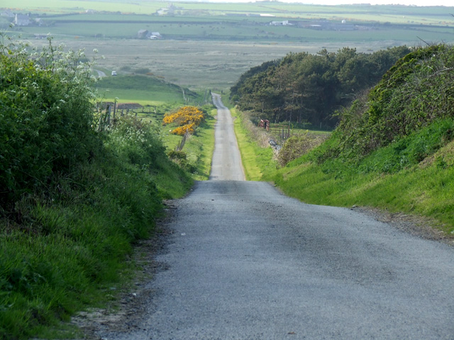 Country road looking towards Aberffraw