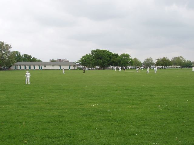 Cricket and new pavilion, North Acton Recreation Ground