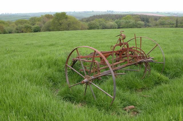 Old farm machinery at Bithefin Moor