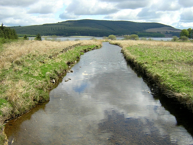 River Carron Flowing Towards Carron Valley Reservoir
