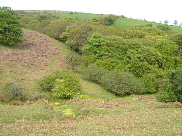 Glaze Brook valley below Glaze Meet