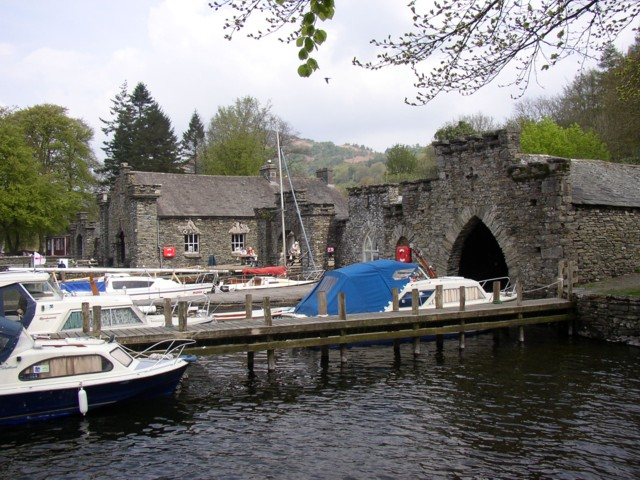 Boathouses, Fell Foot Park, Staveley-in-Cartmel