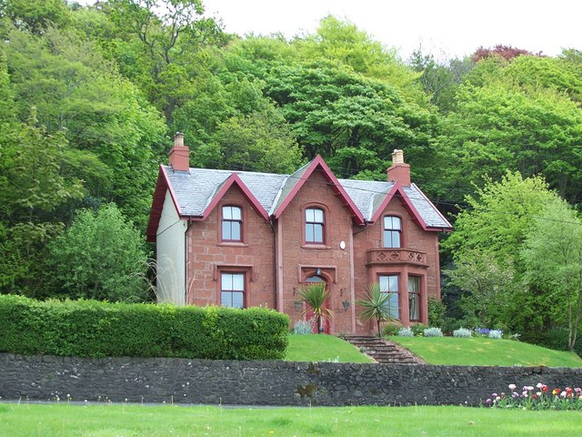 Red sandstone house