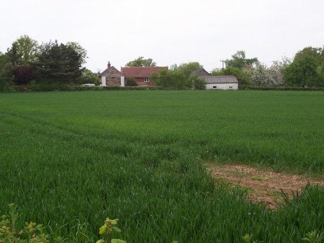 Houses outside Lower Hardwick
