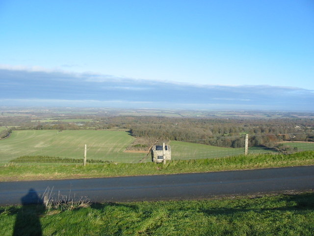 View over Southern Berkshire from Walbury Hill Car Park