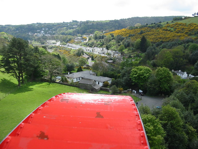 Scene from the viewing platform at Laxey Wheel