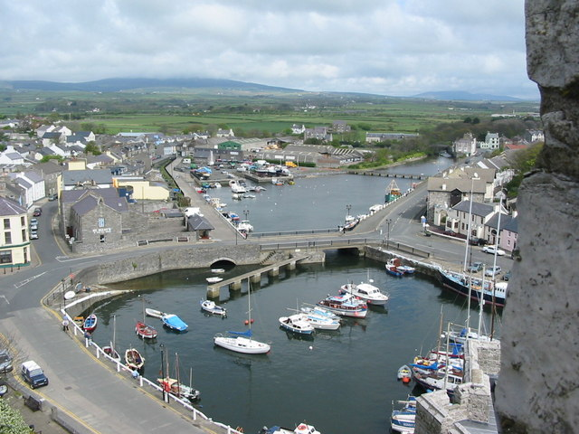 Castletown Harbour from Castle Rushen