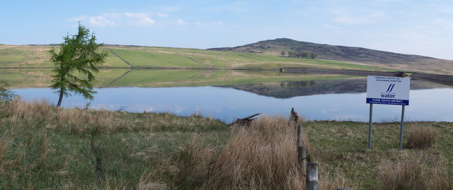 Upper Gryfe reservoir and Corlick Hill