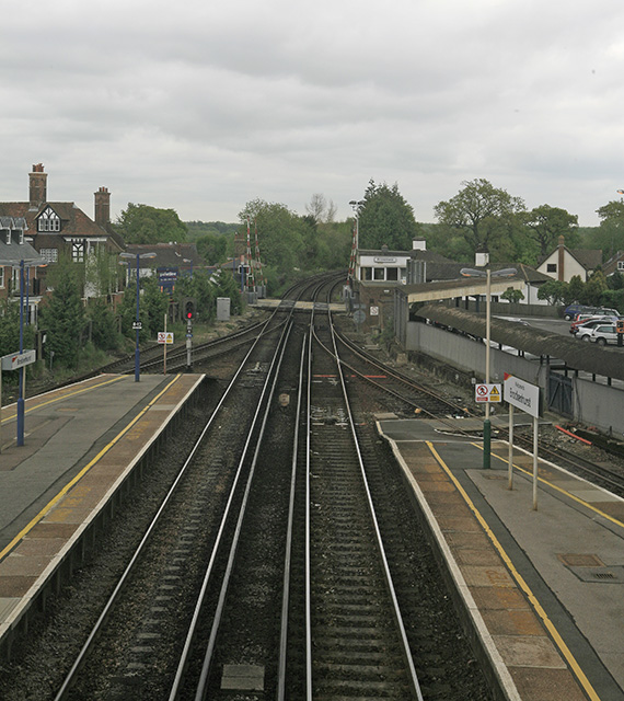 Brockenhurst Station and level crossing