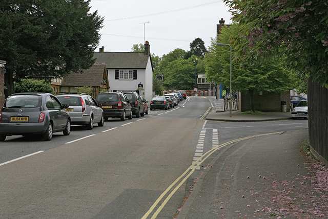 A337 approaching level crossing, Brockenhurst