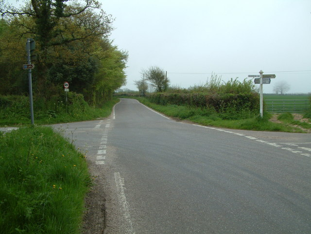 Road junction north of the A3052