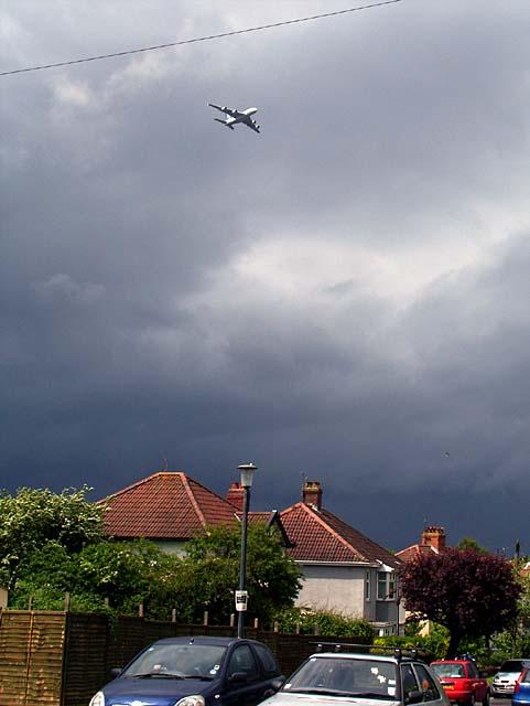 A380 Airbus over Cherrington Road
