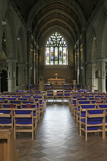 Interior of St Saviour's church, Brockenhurst