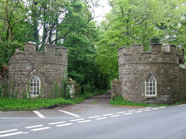 The lodge gatehouses