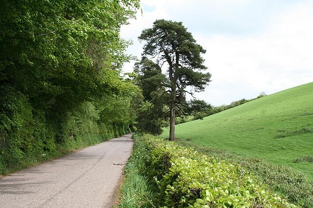 Bampton: road between Ford and Huntsham