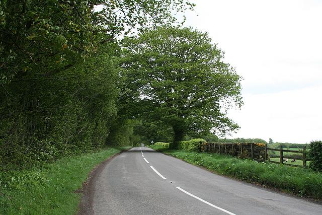 Skilgate: the B3190 on Haddon Hill