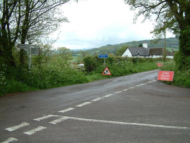 Road Junction. Lea, Devon