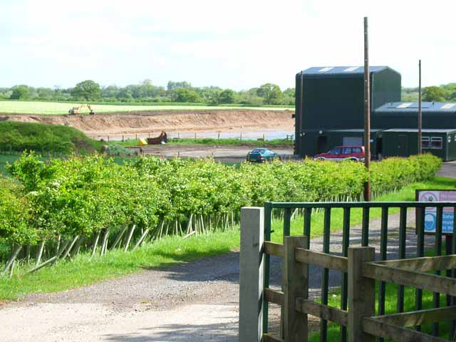 Gravel pit at Catterick