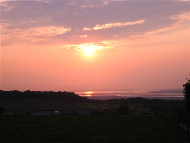Sunset over Mickledale and the Mersey Estuary