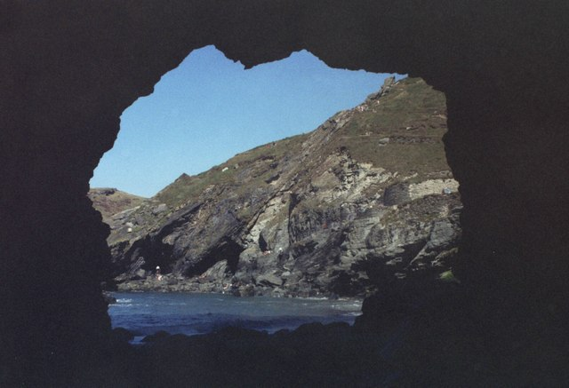 Looking out of Merlin's Cave, Tintagel.