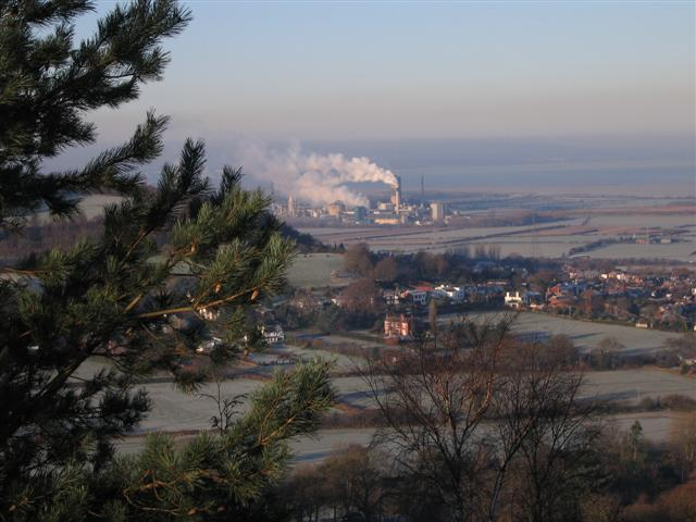 Helsby and Ince Works from Foxhill