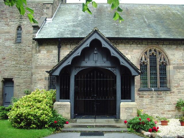 Porch, All Saints Church, Hesketh Bank.
