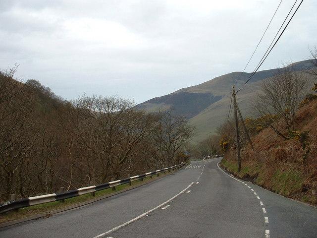 A487 near Llyn Mwyngil [Tal-y-llyn Lake]