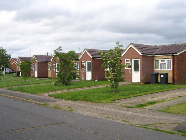 Row of bungalows, Holme Crescent, Biggleswade, Beds