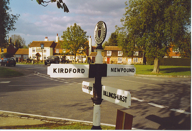 Wisborough Green, Crossroads at North End of the Green.
