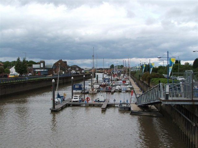 Wisbech marina. From Freedom Bridge
