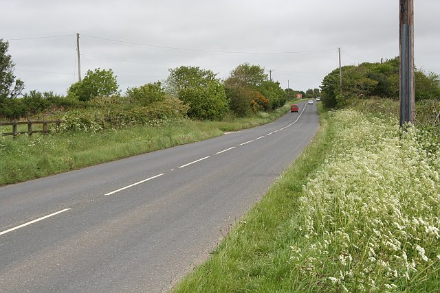 The B3297 north of Helston