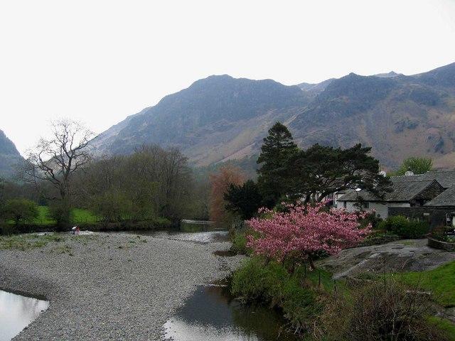 View from bridge at Grange in Borrowdale