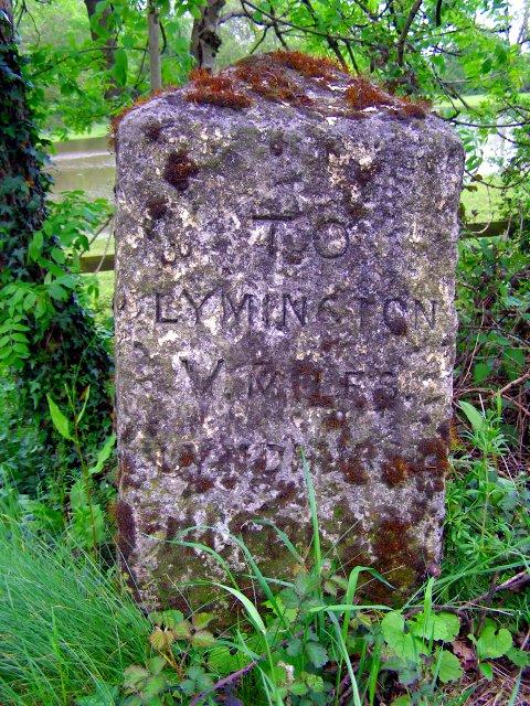 Milestone south of Brockenhurst Bridge, New Forest