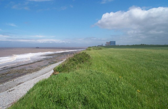 Looking along the coastline towards Hinkley Point