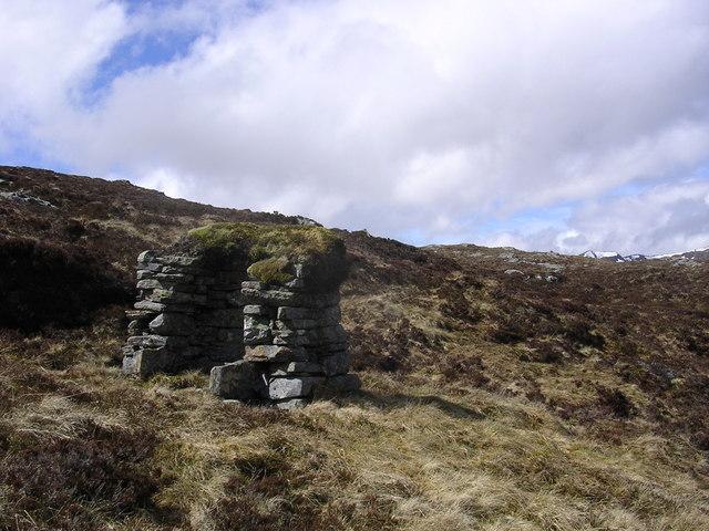Shooting butt (?) high above Loch Affric