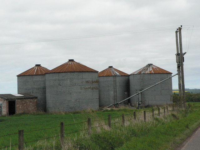 Silos at West Mains of Gardyne